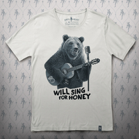 Busker Bear T-shirt (White)