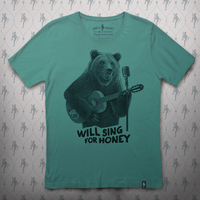 Busker Bear T-shirt (Green)